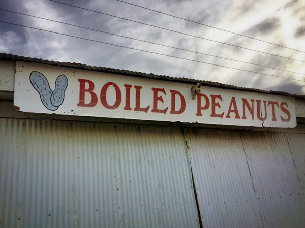 Boiled Peanuts Sign