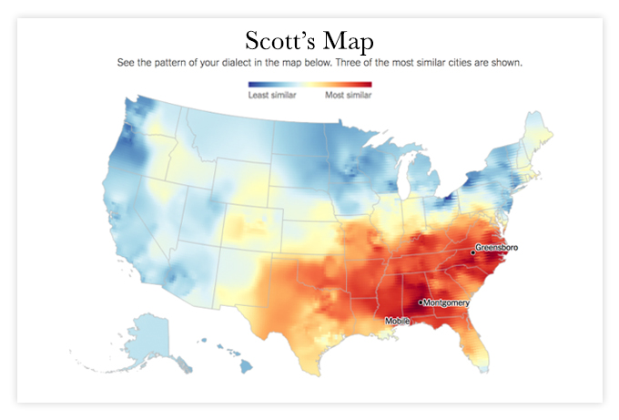 Dialect Map Results